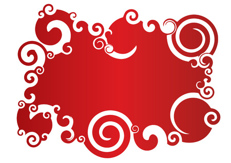 Vector red swirly abstract background with room for text.