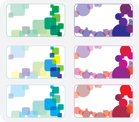 Set of colorful vector business cards.