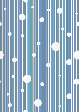 Seamless blue vector wallpaper with circles. Easy to edit.