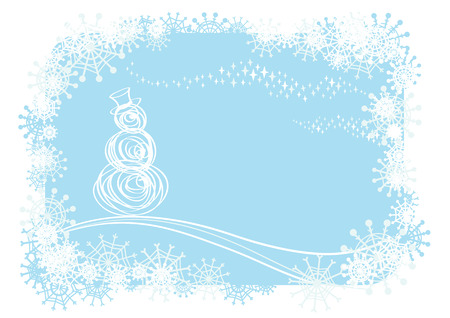 Vector christmas background.Easy to edit layers.