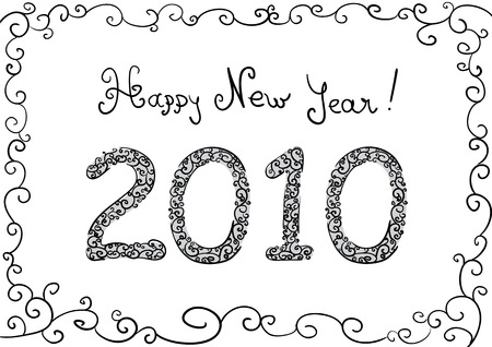 2010 New year illustration for your design. Vector