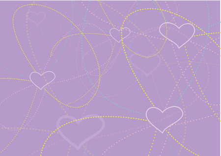 hearts background. Vector