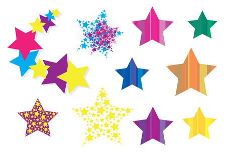 collection of star design elements. Stock Vector - 6199615