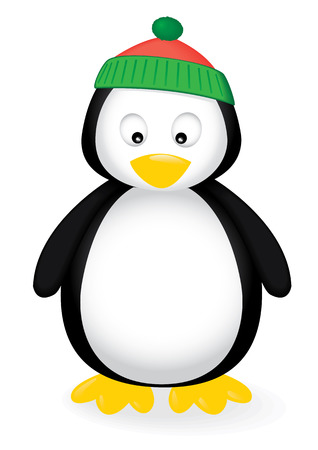 illustration of a cute penguin. Illustration