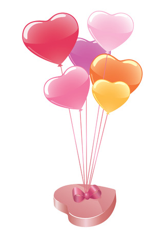 Vector candy box with colorful balloons. Stock Vector - 6296463