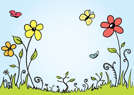 Spring background with room for your text Vector