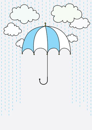 umbrella on rainy background with room for text