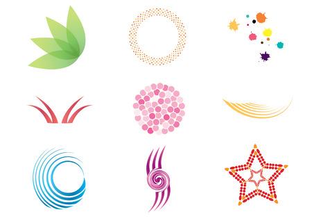 saludable logo: Colecci�n de coloridos s�mbolos e iconos.