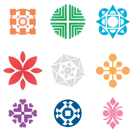 Collection of colorful symbols and icons.  Vector