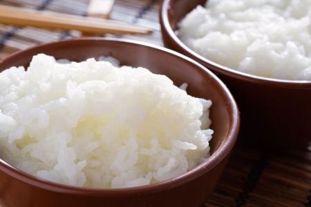 arroz blanco: Deliciosa y saludable al vapor thai arroz blanco.  Foto de archivo