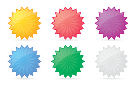 Set of colorful badge icons for your design. Vector