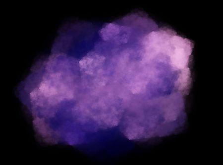 Digital illustration of a purple nebula. illustration