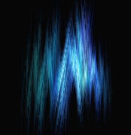 Digital illustration with blue icy light streaks.