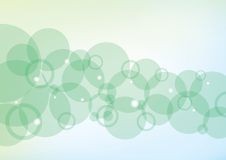 Modern background with green bubbles and lights Ilustrace