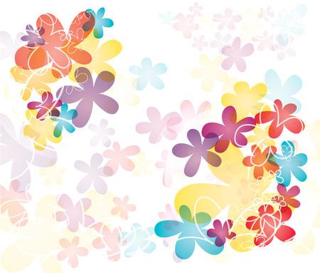 Colorful flower splash  Ilustrace