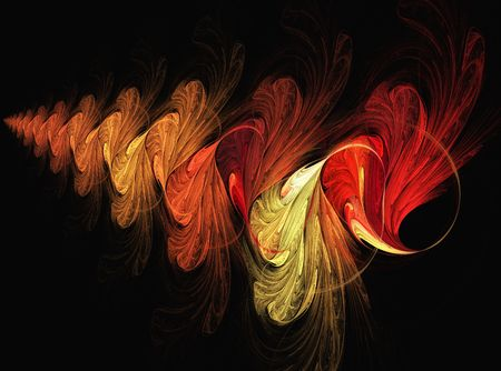 Digital illustration of an infinite shell spiral Reklamní fotografie