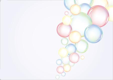 saubere luft: Farbigen Hintergrund mit Blasen