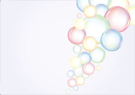 Sfondo colorato con bolle