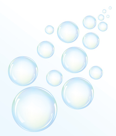 water bubbles: illustration of blue water bubbles