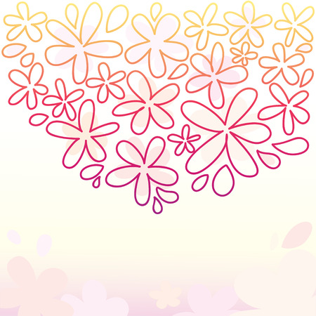 Abstract hand drawn flower background