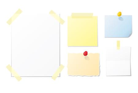 Colección de documentos para el diseño y notas en blanco