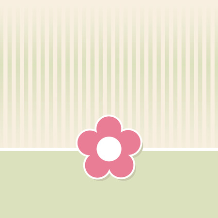 Cute flower background in a retro style.