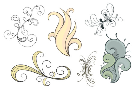 Set of decorative swirls in a variety of styles