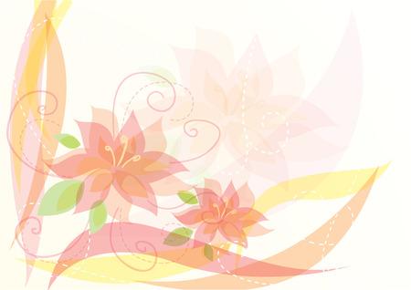 Elegant  floral background design.