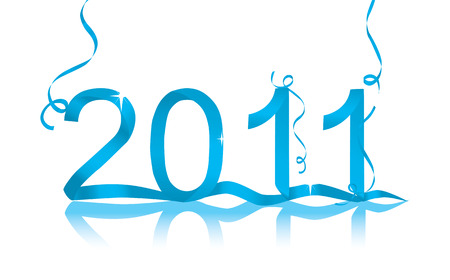 New Year's eve vector decoration for 2011