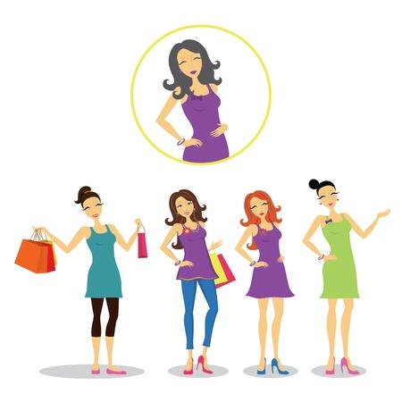 Vector Women Set Ilustrace