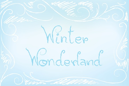 Icy background illustration in a sketch style with the text  Vector