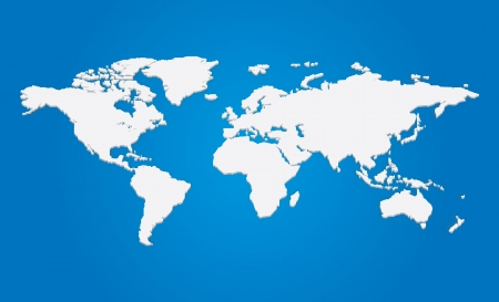 Vector 3d illustration of the world map