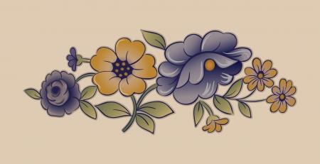 Vintage Porcelain Floral Design Ilustrace