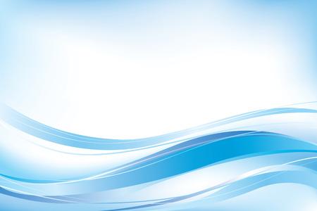 blau: Abstrakt blau Wellen Hintergrund.