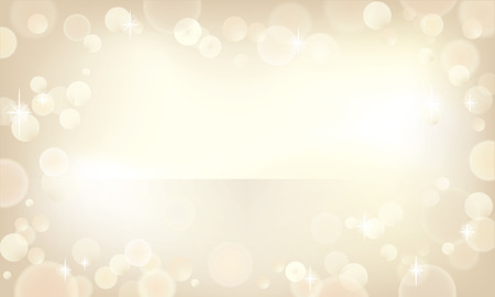 Beautiful bokeh background in a champagne color. Vector