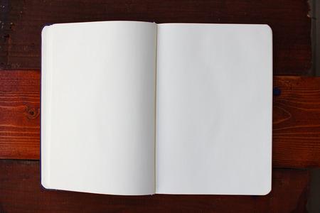 Blank white notebook with copyspace Reklamní fotografie
