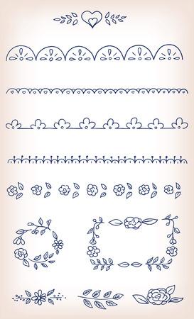 Vector doodle elements design set Ilustrace