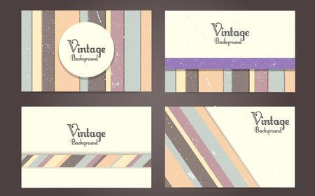 Vector set of vintage backgrounds