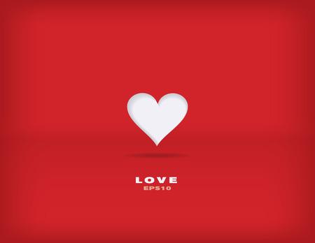Modern minimalism vector valentine background Ilustrace