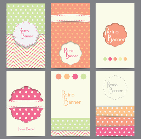Set of vector retro style backgrounds