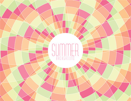 Colorful vector summer mosaic background Ilustrace