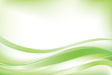 Green abstract vector wave background