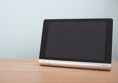 blank tablet: Blank modern tablet on desk