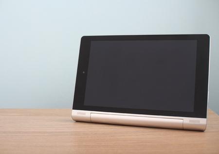 Blank modern tablet on desk