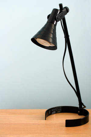 Office lamp background with copyspace