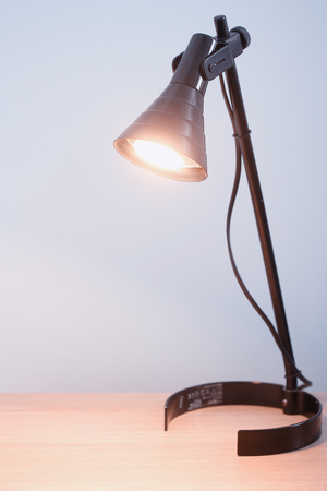 copyspace: Office lamp background with copyspace