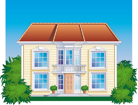 A highly detailed house illustration