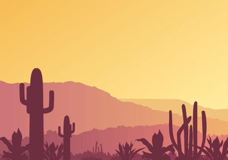 Mexican landscape Stock Vector - 6459189