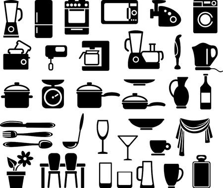 Kitchen ware and home appliances Stock Vector - 6459187