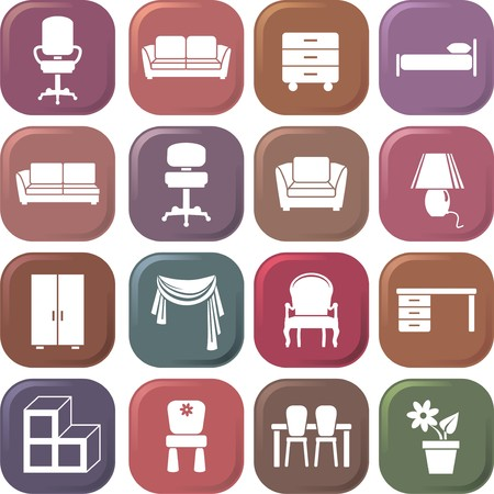 furniture Icon set Stock Vector - 6459446